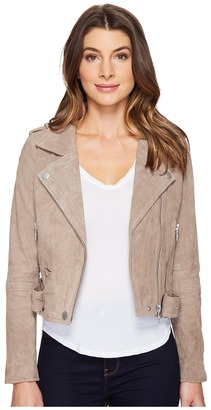 Blank NYC - Suede Moto Jacket in Sand Stoner Women's Coat $198 thestylecure.com