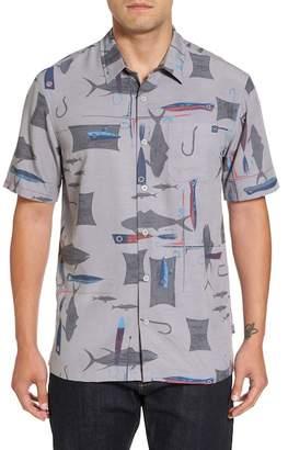 O'Neill Jack Hook and Line Print Camp Shirt