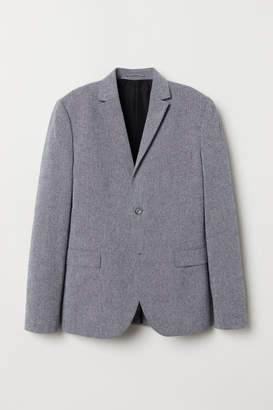 H&M Cotton Blazer Slim fit - Gray