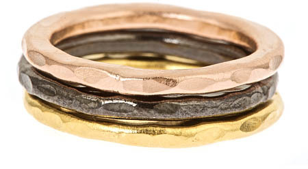 Bita Pourtavoosi Hammered Stacking Ring Set