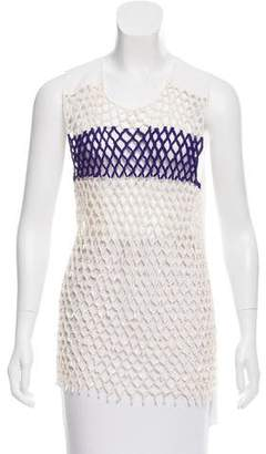 Reed Krakoff Sleeveless Overlay-Accented Tunic
