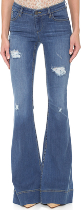 alice + olivia Ryley Distressed Bell Jeans $275 thestylecure.com