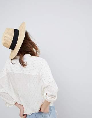 Glamorous Straw Fedora Hat
