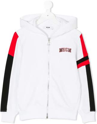 MSGM fighter print hoodie