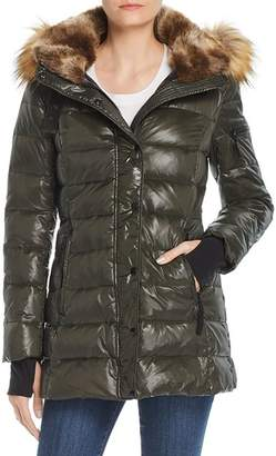 Aqua Faux Fur-Trim Hooded Puffer Jacket - 100% Exclusive
