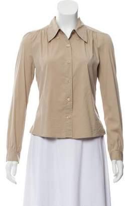 Prada Long Sleeve Blouse Tan Long Sleeve Blouse