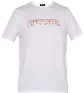 A.P.C. Touitronic Cotton Crew Neck T Shirt - Mens - White