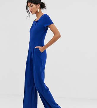 62937f5473 Paper Dolls Tall tall twisted neck stretch crepe jumpsuit