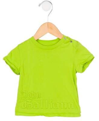 John Galliano Boys' Patterned Short Sleeve T-Shirt lime Boys' Patterned Short Sleeve T-Shirt