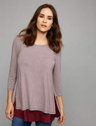 A Pea in the Pod Lift Up Knit/Woven Nursing Top