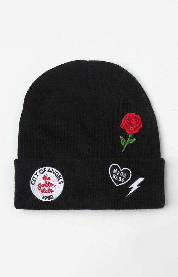 LA Hearts City Of Angeles Patched Beanie