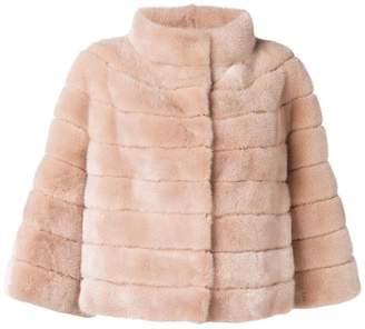 Yves Salomon long-sleeve fur jacket