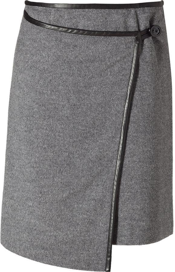 Steffen Schraut Flannel Overlap Skirt