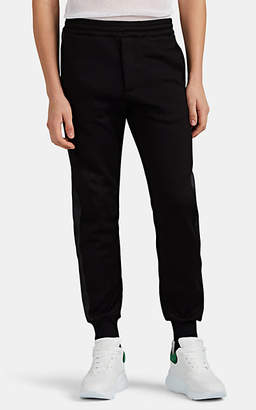 Alexander McQueen Men's Cotton-Blend Tuxedo Jogger Pants - Black