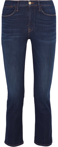 FRAME Le High Cropped Mid-rise Slim-leg Jeans