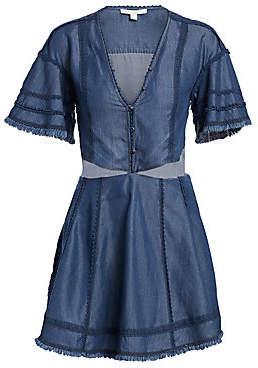 Jonathan Simkhai Women's Denim Cutout Fit-&-Flare Dress