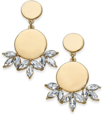 INC International Concepts I.N.C. Gold-Tone Disc & Crystal Drop Earrings, Created for Macy's
