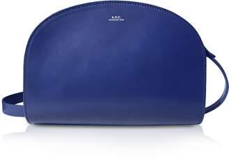 A.P.C. Marine Blue Half Moon Smooth Leather Crossbody