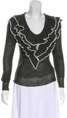 Rodarte Ruffle Long Sleeve Sweater