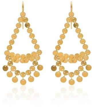Marie Helene De Taillac Dancing sequins chandelier earrings