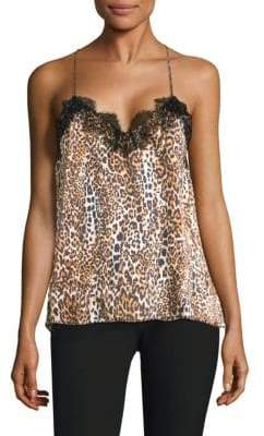 CAMI NYC Racer Charmeuse Leopard Camisole