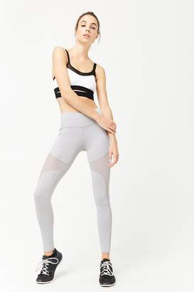 Forever 21 Active Mesh-Panel Leggings
