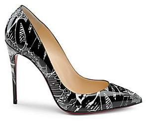 eb7ba2314967 Christian Louboutin Women s Pigalle Follies 100 Printed Patent Leather Pumps