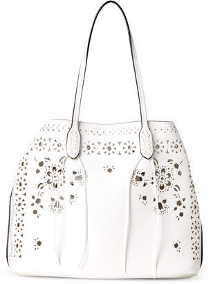 Chanel Moda Luxe White Perforated Bag-in-Bag Tote