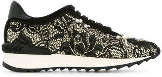 Casadei pearl lace sneakers