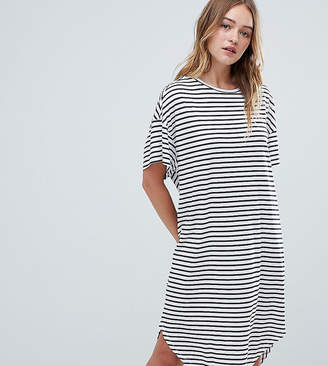 Monki Stripe Jersey Smock Dress