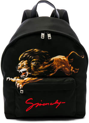 86232817ed Givenchy Lion Print Backpack in Multi