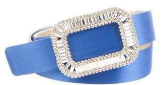 Roger Vivier Crystal-Embellished Pilgrim Belt