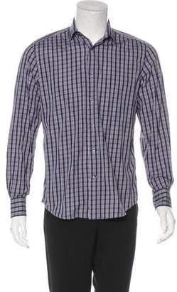 Lanvin Plaid Button-Up Shirt