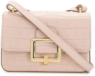 Bally metallic buckle shoulder bag