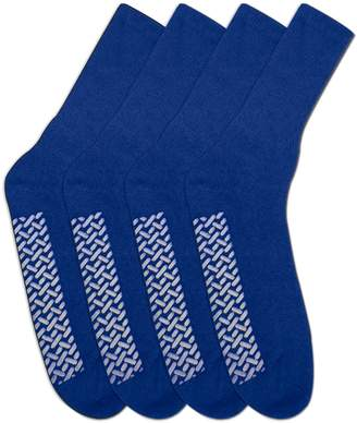 Personal Touch Diabetic Socks - Non Skid Hospital Loose Fitting Slipper Socks With Gripper Bottoms 2 Pack Savings - Gripper socks - Mens Size (3 )