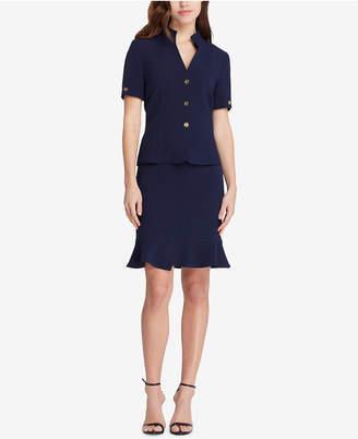 Tahari ASL Flounce-Hem Skirt Suit