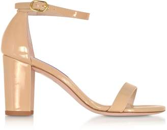 Stuart Weitzman The NearlyNude Patent Leather Sandals