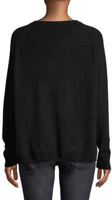 Minnie Rose Cashmere Raglan-Sleeve Crewneck Sweater