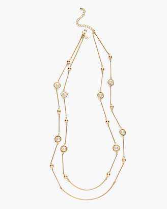 Faux-Pearl Double-Strand Necklace