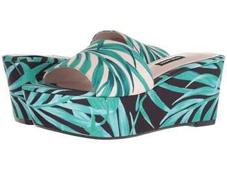 Nine West Falardo Platform Wedge Slide Sandal Women's Wedge Shoes