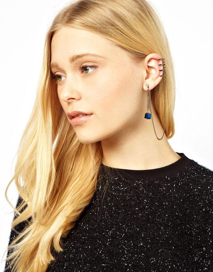 Designsix Courtney Skeleton Ear Cuff