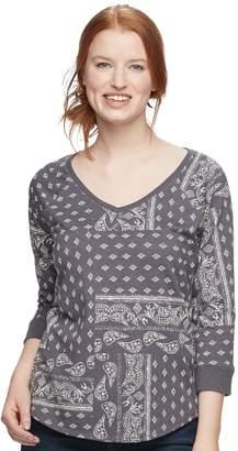 Sonoma Goods For Life Women's SONOMA Goods for Life Drop Sleeve V-Neck Sweatshirt