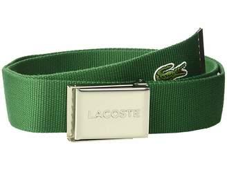 Lacoste Textile Signature Croc Logo Belt