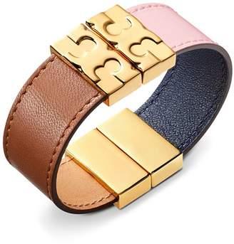 Tory Burch Color-Block Reversible Leather Bracelet
