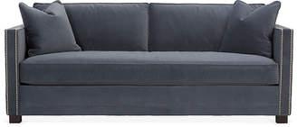 One Kings Lane Shaw Bench-Seat Sofa - Slate Velvet