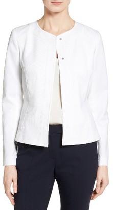 Women's Classiques Entier Texture Woven Crop Jacket $329 thestylecure.com