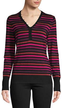 Tommy Hilfiger Striped Henley Sweater