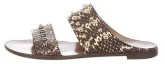 Lanvin Studded Snakeskin Sandals