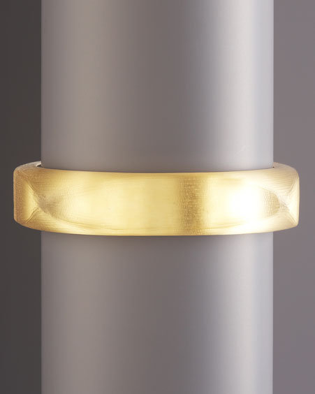 Alexis Bittar Golden Square Bangle, Medium