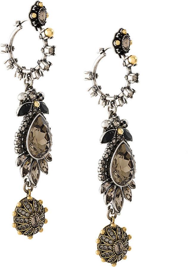 Alexander McQueenAlexander McQueen gemstone drop earrings